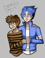 Rigby and Mordecai - Regular Show by Nasuki100