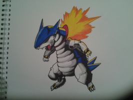 Robot Typhlosion by oO-sam-Oo
