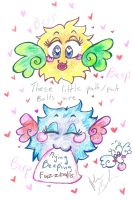 These are flyingBeepingFuzzballs by Kittychan2005