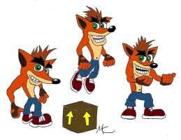 Crash Bandicoot Old Schooled by CrashyBandicoot