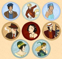 ATLA Buttons -- Gaangsters by AliWildgoose