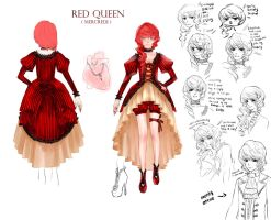 TW: Red Queen RefSheet by mogemogemoge