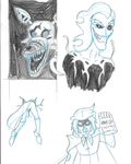7-28-15 Warm Up Sketches by AraghenXD