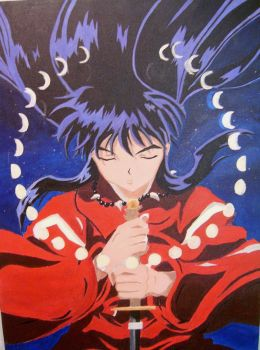Inuyasha painting by SirDidymus