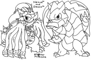 Nexus and Draco *Doodles Incomplete* by trinityweiss