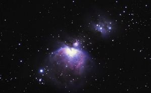 Infamous Orion great nebula by astrofireball