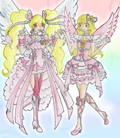 Angel Peach and Aurora Kiss by CandySkitty
