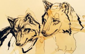 Wolves by AnnasFreeArt