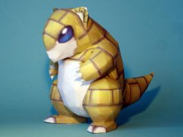 Sandshrew Papercraft Version 2 by Skele-kitty
