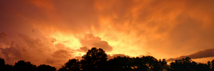 Orange Sky After a Thunderstorm by drywall420