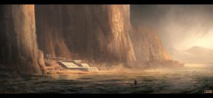 Mountain Base by Juhupainting