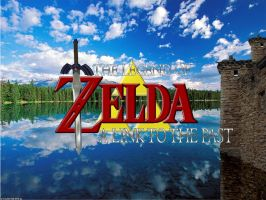A Link To The Past Realistic Title Screen by megadecimal