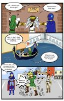 Marth, Link and Pit in Venice by hotcheeto89