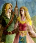 Zelda and Link by SonjaFunnell
