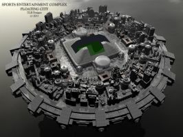 Sports-Entertainment Complex Floating City by TLBKlaus