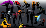 All the Disney silhouettes by Willemijn1991