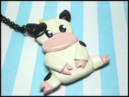 Mooo Cow Necklace by GrandmaThunderpants