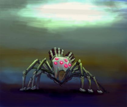 colored machine  spider by lousworld