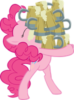Pinkie Pie holding Cider Vector by scrimpeh