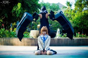 black rock shooter seifuku photosession by psycomeh