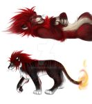 Cat of Flames by KirraDes