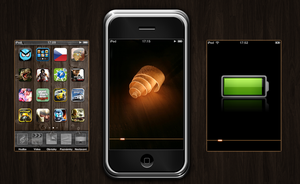 Animated Wooden Iphone by iSugar