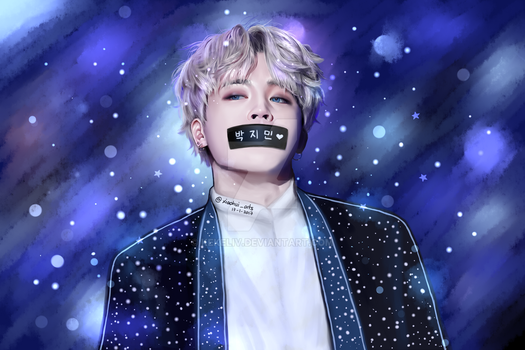 BTS Park Jimin Fanart (with duct tape) by KekeLiv