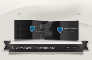 Yosh Business Card Concept no.3 by Tooschee