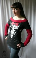 Skeleton Tuxedo Shirt by smarmy-clothes