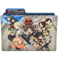 Folder Icon - Attack on Titan: Junior High by metalcoler
