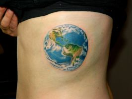 Earth Tattoo by Sirius-Tattoo