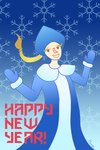 Happy New year from Snowmaiden! by l3rron