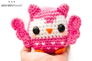 cute pink owl amigurumi 3 by adorablykawaii