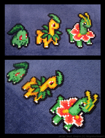 Chikorita, Bayleef, and Maganium Set by BklynSharkExpert