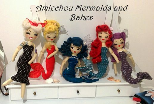 Pin Up Mermaids and Babe by lulemee