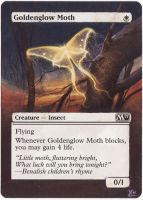 MTG Altered Art: Goldenglow Moth by LXu777
