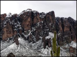 Superstition Mountains - Snow by andromeda
