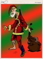 roadkill santa by lilmikeegee