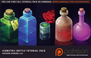Isometric Bottles Full Tutorial Pack by Sephiroth-Art