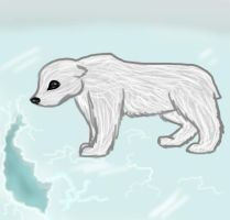 Polar bear by wolf-drawer-kayla
