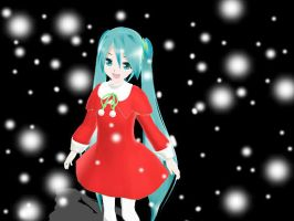MMD Lat Christmas Miku by midnighthinata