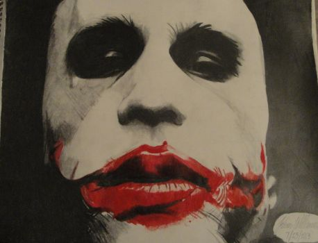 Heath Ledger/Joker Drawing The Dark Knight by Artistking