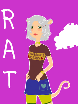 Rat-Girl -tegaki e- by tatsku