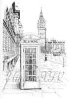 English phone booth by AmgineXIV
