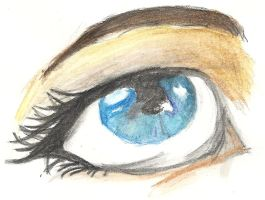 Eye with inktense pencils. by teken-lovers