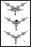 Gothic Lace Tattoo Splash 002 by Quicksilverfury