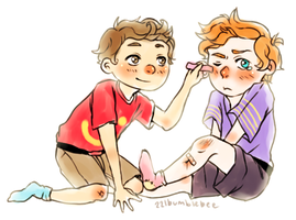 Cabin Pressure as kids by cannorachan