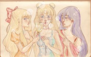 Mina, Usagi and Rei - Sailor Moon Crystal by Millennia91