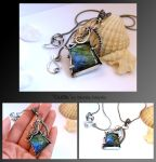 Cadha- wire wrapped silver necklace by mea00