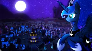 Princess Of The Night ~ Wallpaper by Karl97